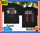 New Maroon 5 Shirt Tour 2020 T-Shirt Gift Black Size M-3XL image
