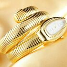 Luxury Brand Snake Gold Womens Watches Bracelet Silver Quartz Wristwatches Gift image