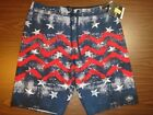 O'neill Men's Board Shorts - Red/White/Blue Patriotic Pattern - 00189