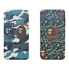 Fashion Camouflage Texture Bath Ape Case For iPhone XS Max XR iPhone 8 7 Plus