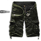 Men's Military Army Cargo Shorts Tactical Work Combat Long Pants Camo Casual US