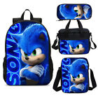 Sonic The Hedgehog Backpack Insulated Lunchbox Shoulder Bags Pen Case Kids Lot