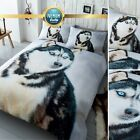 3D Animal Duvet Cover Set Single Double King Pug Dog Cat Wolf Tiger Dolphin