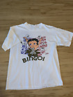 Vintage 90s Betty Boop Bingo New White Men Tee Shirt Size S-234XL F747 $16.14 USD on eBay