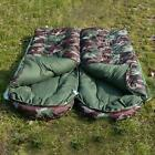 Outdoor Adult Cotton Camping Sleeping Bag Envelope Style Camouflage Warm Waterpr