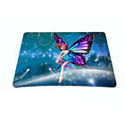 Purple Flower Anti-Slip Rubber Game Mouse Mat Gaming Pad 235*196*2mm Mousepad