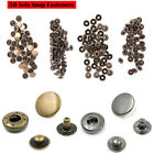 200 Metal Rivet Snap Fasteners Press Studs Sewing Clothes Leather Button 10mm