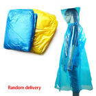 Disposable Rain Coat Hooded Poncho Waterproof emergency wear hiking camping Lot