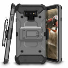 For Samsung Galaxy Note 8 9 A6 Holster Case Rugged Heavy Duty Kickstand Cover