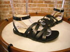 Isaac Mizrahi Black Leather Paiva Gladiator Sandal NEW