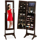 BCP 6-Tier Standing Jewelry Mirror Armoire w/ LED Lights