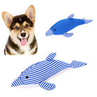 FJ- EE_ ND_ Stripe Dolphin Shape Sound Squeaky Squeaker Pet Dog Chew Teeth Clean