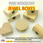 Craft Wooden Storage Box Memory Jewelry Plain Treasure Chest Natural Diy Aussie