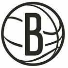 nba007 Brooklyn Nets Logo Die Cut Vinyl Graphic Decal Sticker NBA Basketball on eBay