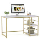 Writing Table Computer Desk Laptop PC Furniture Faux Marble Workstation Office