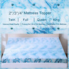 Kyпить 2 3 4 Inch Blue Swirl Memory Foam Mattress Topper Queen King Twin Full Lavender  на еВаy.соm