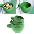 Mini Parrot Food Water Bowl Feeder Plastic Bird Pigeons Cage Sand Cup Feeding ZT