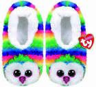 TY BEANIE BABIES OWEN OWL PLUSH SLIPPERS SMALL MEDIUM LARGE NEW WITH TAGS