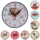 Modern Creative Round Wood Wall Clock Home Office Bedroom Decor European Style