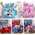 Disney Comforter Cover Sheet Pillowcases Bedding set Mickey Minnie Mouse Cartoon image