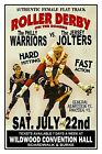 ROLLER DERBY 1973 Wildwood NJ CONVENTION HALL POSTER/SIGN