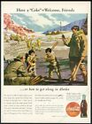 1942 Coke Alaska US Army soldiers Eskimo kids baseball vintage print ad $9.99  on eBay