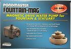 Pondmaster Fountain-Mag Magnetic Drive Utility Water Pump 5 sizes available