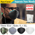 Washable Separate Nose Mouth Mask & Carbon Filters Purify Protection Reusable US
