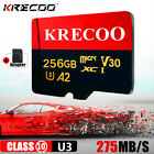 KRECOO 256GB Micro Memory Card Flash TF Class10 275MB/S Camera Car Phone NEW