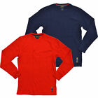 Polo Ralph Lauren Mens T-Shirt Waffle Thermal Long Sleeve Bear Logo M L Xl Xxl