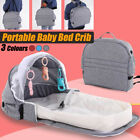 Folding Baby Travel Cot Infant Crib Bed Mosquito Net Nursery Sleeping Carry Bag