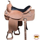 Hilason Western American Leather Draft Horse Saddle Trail Pleasure U-01BZ