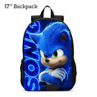 13/15/17'' Sonic The Hedgehog School Bag Boys Girls  Toddler Backpack Kids Gift
