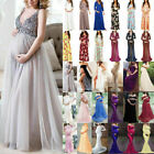 Pregnant Women Maxi Dress Maternity Long Cocktail Party Lace Dresses Photography