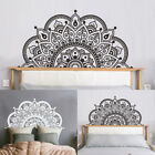 Nordic Adhesive Half Mandala Wall Sticker Decal Mural Meditation Home Decoration