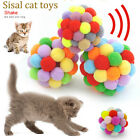 Pet Cat Chew Colorful Handmade Play Toys Kitty Puppy Knitted Fun Bouncy Balls