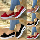 Pumps Bow Trainers Casual Loafers Ladies Plimsolls Size Women On Slip Shoes Flat