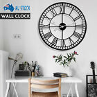 Large Outdoor Garden Roman Numerals Giant Open Face Metal Wall Clock 60/80/100cm