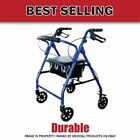 Lightweight Aluminum!! Cardinal₆Rollator Foldable Walker with Wheels Soft Seat