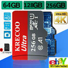 2020 Hot KRECOO 256GB Memory Card 98MB/S 4K Class10 Flash TF Card with Adapter
