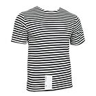 T-Shirt Top Black Stripe Russian Marines Surplus Military Army Summer A02100