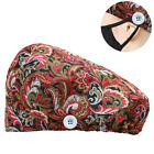 Printed Surgical Scrub Cap Hat with Sweatband Adjustable Bouffant Cap For Nurse