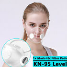 Reusable Clear Face Masks &10xfilters Anti-droplets Respirator Face Mouth Mask