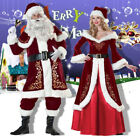 Christmas Santa Claus Cosplay Adult Costume Fancy Dress Party Suit Outfits Xmas