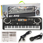 61 Keys Electronic Piano Keyboard LED Electric Holder Music Stand Beginner w/Mic
