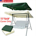 """76""""x44"""" Outdoor Patio Swing Canopy Top 300D Replacement Cover Garden Porch US"""