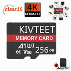 KIVTEET 64 128GB 256GB Memory Card 4K Micro Flash TF for Phone Car Camera Format