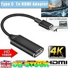 USB-C Type C to HDMI Cable 4K HD TV Converter Adapter For Samsung Apple Macbook