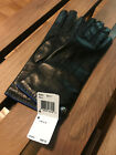 $98 Nwt Coach Bow Driving Gloves Leather Cashmere Lined Black New Size 7 7-1/2