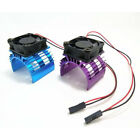 Rc Parts Electric Car Brushless Motor Heatsink Cover + Cooling Fan For 1:10.f